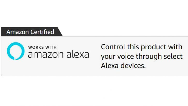 Amazon Alexa certified